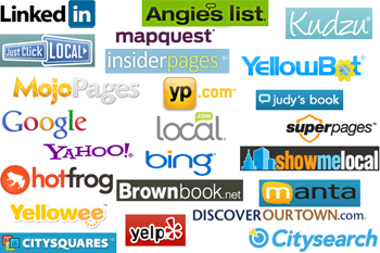 IYP - Yelp, INsider Pages, Manta, Kudzu, Hotfrog, City Squares