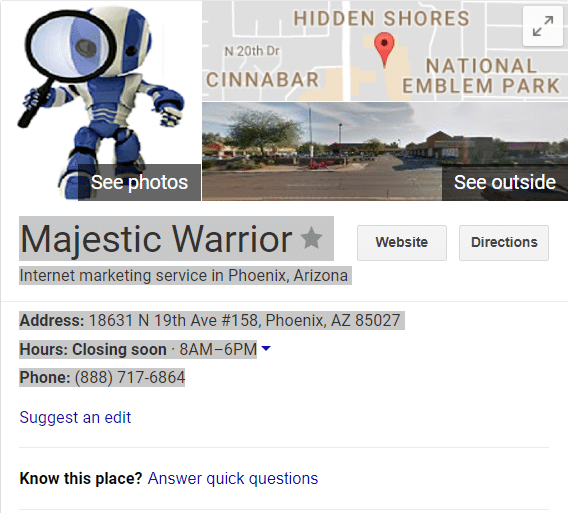 Local Maps Business Search - Details